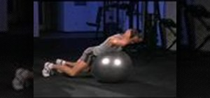 Do stability ball lower back extension with thrusts