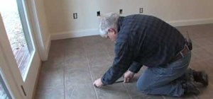 Keep your grout lines straight when laying tile