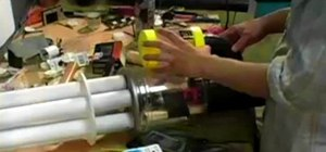 Make a Gatling gun arm costume