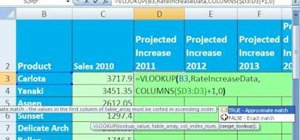 Create projections for sales numbers in MS Excel