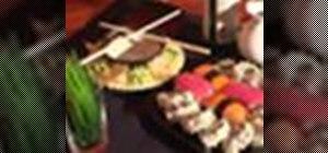 Eat sushi at a restaurant