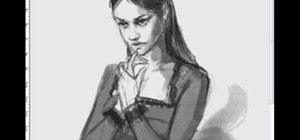 Draw a mysterious woman
