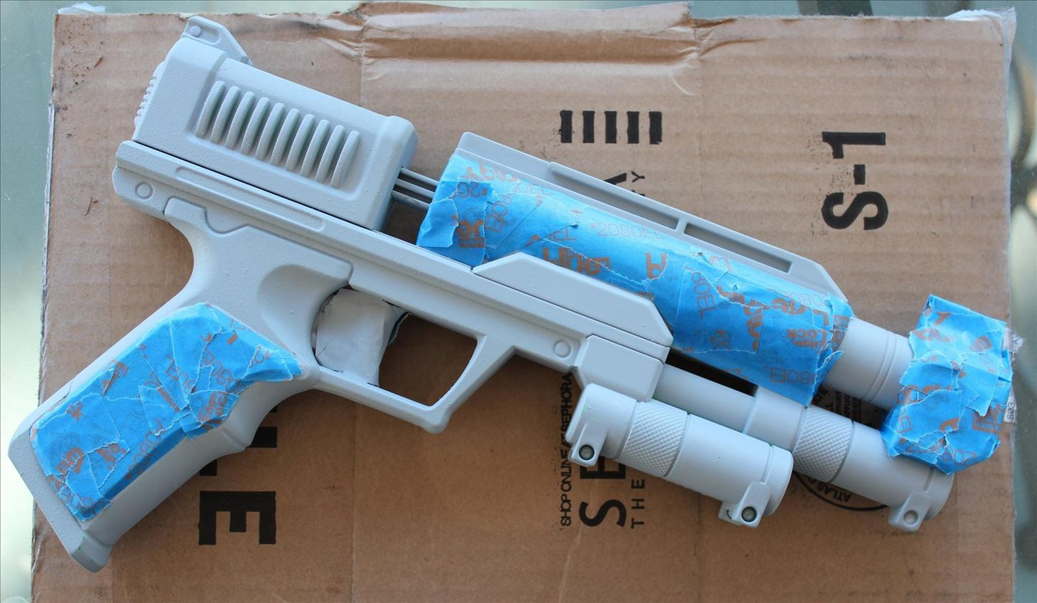 Image is loading Custom-Painted-Nerf-Gun-CosplayWeapon-Steampunk-Mega