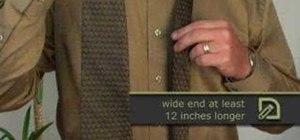 Tie a half-Windsor knot