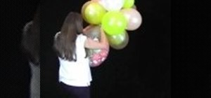 Make a balloon cloud party decoration