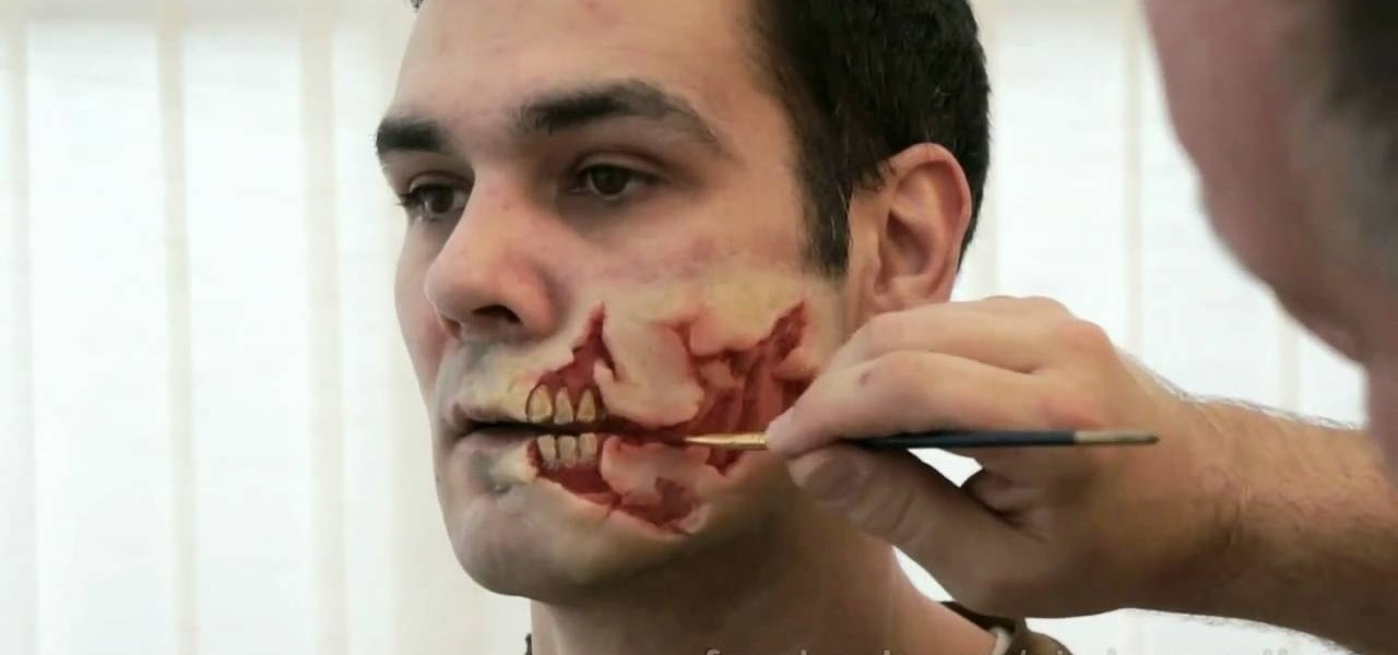 How to do a prosthetic skin tear effect props sfx wonderhowto how to apply face prosthetics to make yourself look like a zombie solutioingenieria Image collections