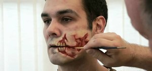 Apply face prosthetics to make yourself look like a zombie