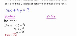 Use and find x & y-intercepts in algebra