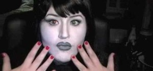 Create a film noir Old Hollywood makeup look for Halloween