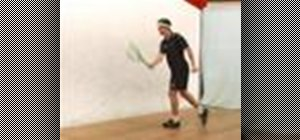 Do a Squash forehand volley drop return power serve