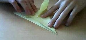 Fold an origami pteranodon dinosaur