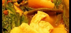 Cook Filipino pork sinigang