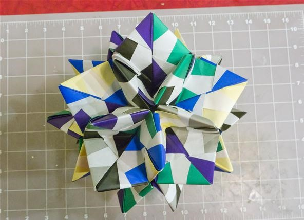Modular Origami: How to Make a Cube, Octahedron & Icosahedron from ... | 430x592
