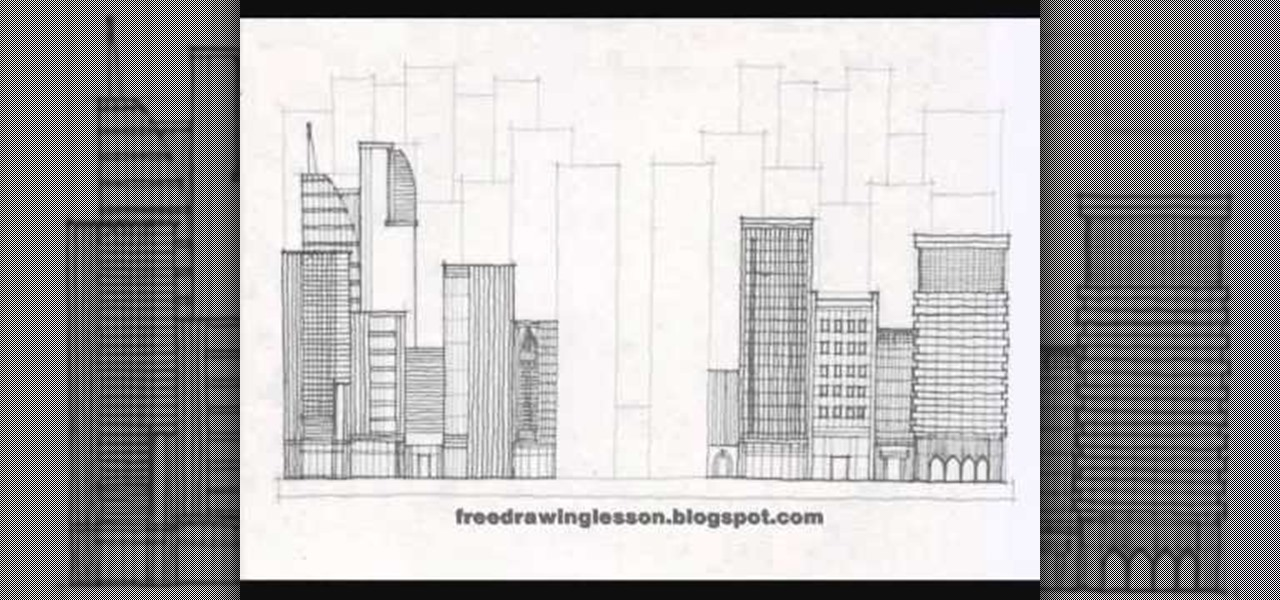 How To Draw A City Full Of Skyscrapers And Tall Buildings Drawing