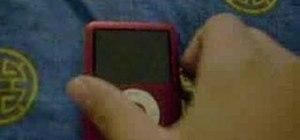Unfreeze an iPod Nano