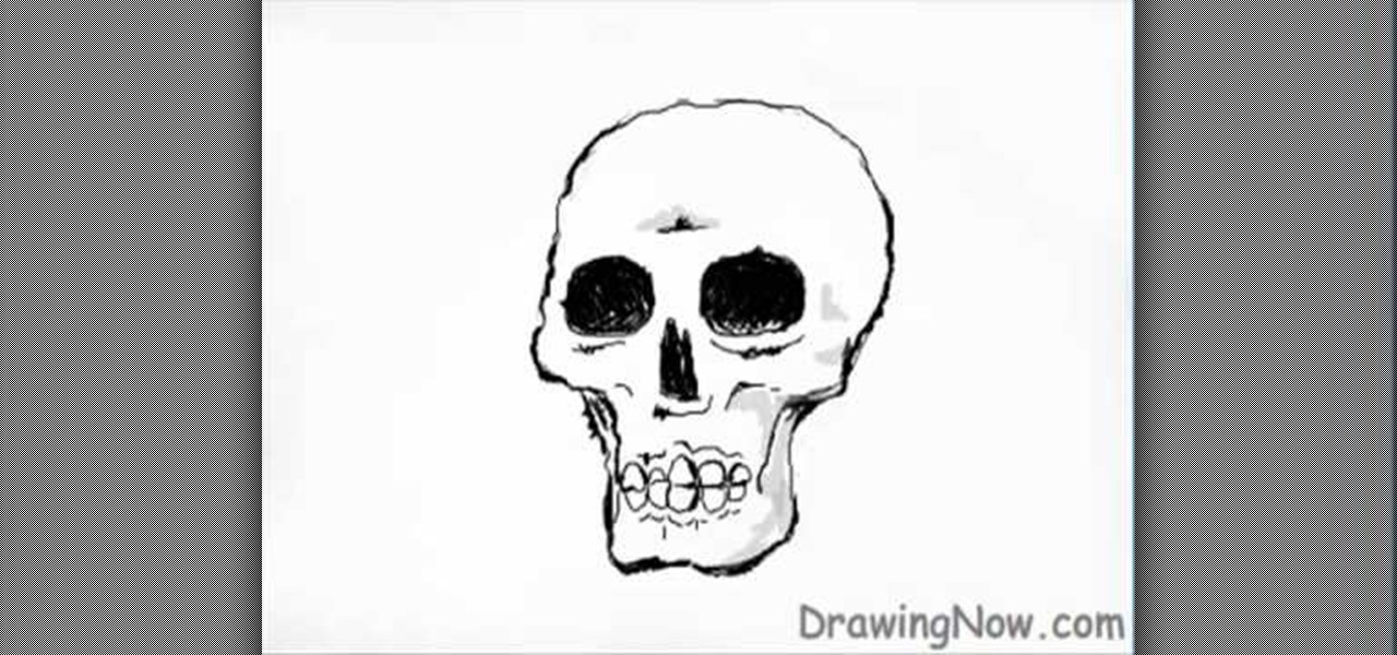 Skeleton Skull Drawing How to Draw a Skeleton Skull