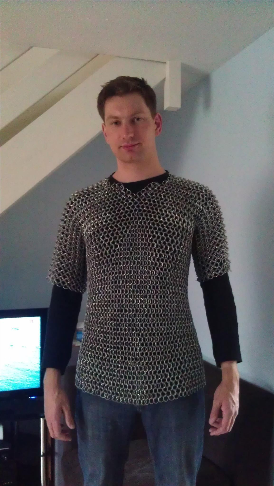 How To Make Chain Mail Armor From Start Finish Metalworking Repairing Aluminum Wiring My First Attempt Here With 25mm Galvanized Wire Left Over Gardening Stuff