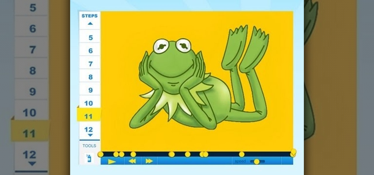 Draw Kermit the Frog (Muppet)