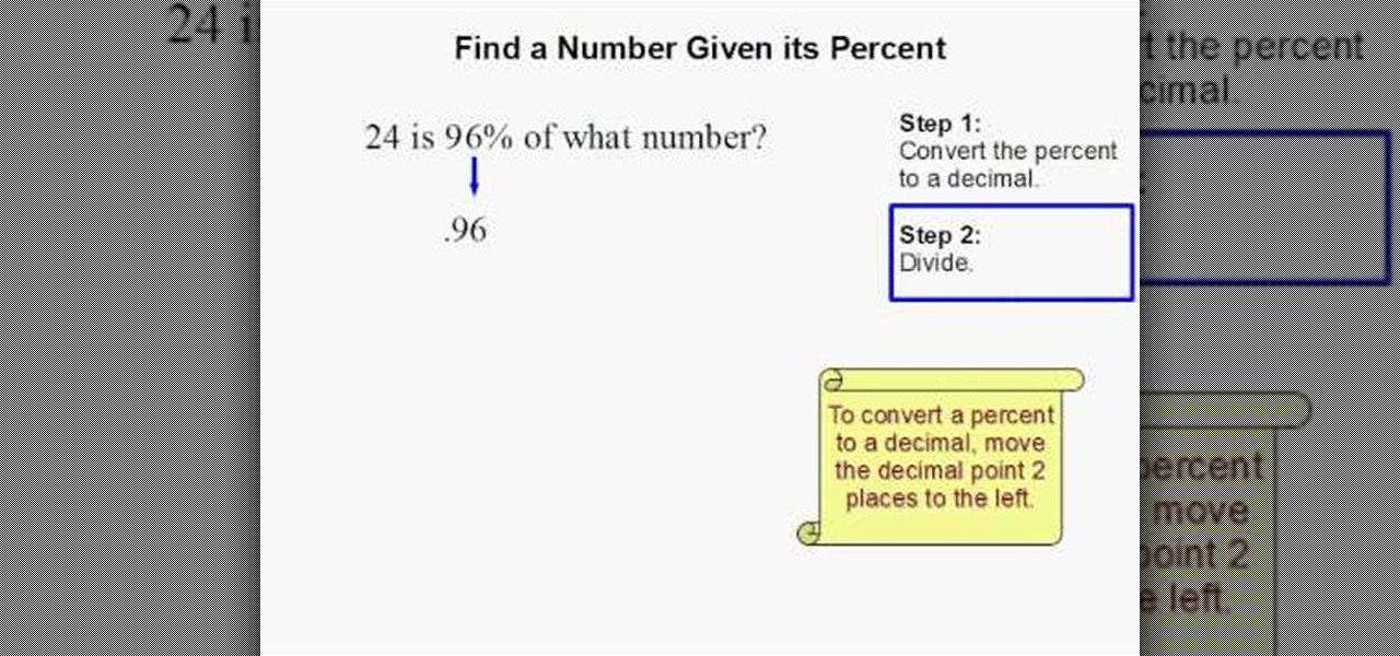 How to find a number given its percent math wonderhowto ccuart Images
