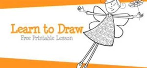 Draw an adorable fairy in an easy way