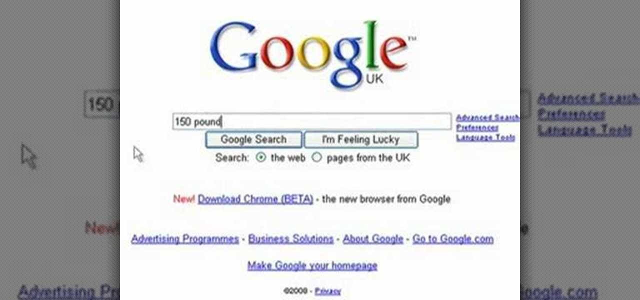 How To Use Google To Easily Convert Kilos To Pounds Science Experiments Wonderhowto