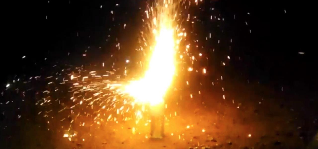 Turn 100 Sparklers into 1 Giant Sparkling Firework