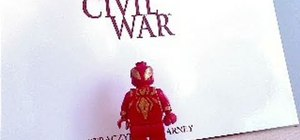 Make Spider-Man's Civil War costume on a Lego minifigure with some paint