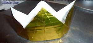 Make a regal gold origami crown for beginners