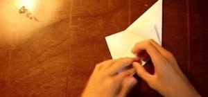 Make an easy origami crane