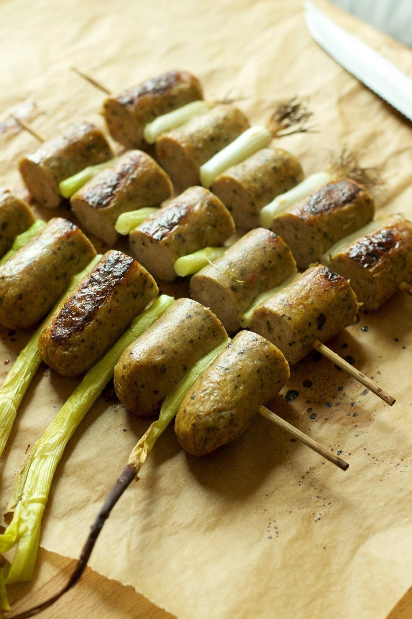 Skewer All Your Sausages Together for Easier Grilling