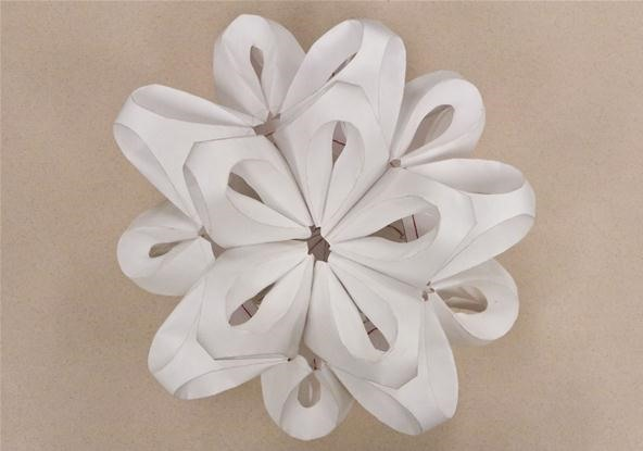 Modular Paper Sculptures Based off of Richard Sweeney's Work
