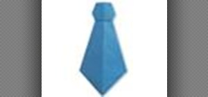Origami a necktie Japanese style