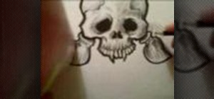 Draw a detailed skull
