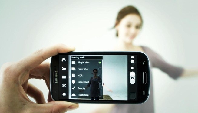 if the users turns the phone on silent or vibrate, the shutter sound