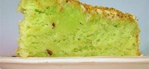 Neon Green Pistachio Cake