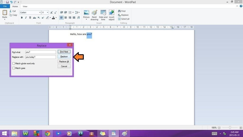 Recovery documents in word