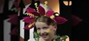 Make a flower costume for Halloween