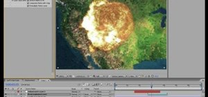 Create a nuclear blast on 2D surface in After Effects