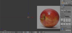 Create a 3D model of an apple in Blender 2.5