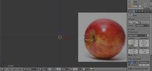 Create a 3D model of an apple in Blender 2.5