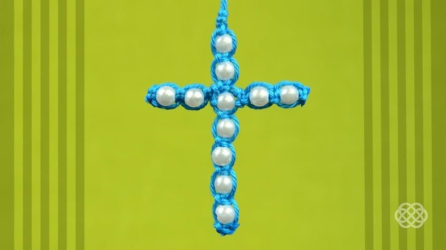 How to Make a Easy Macrame Cross with Beads