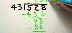 Divide a two-digit number into a three-digit number