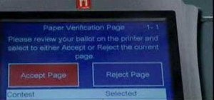 Vote using the eSlate voting machine with VVPAT