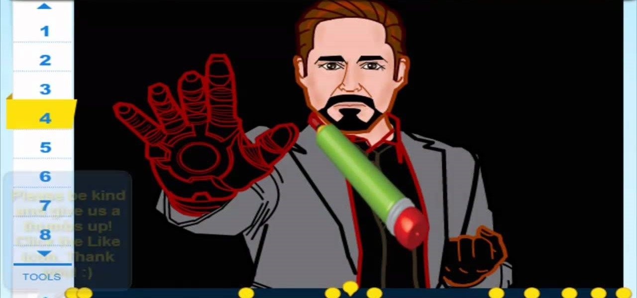 Draw Robert Downey Jr. (Iron Man 3)