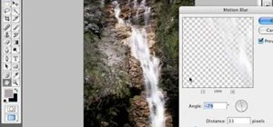 Smoothen waterfall photos in Photoshop