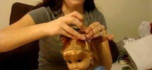 Do mini buns on your American Girl doll