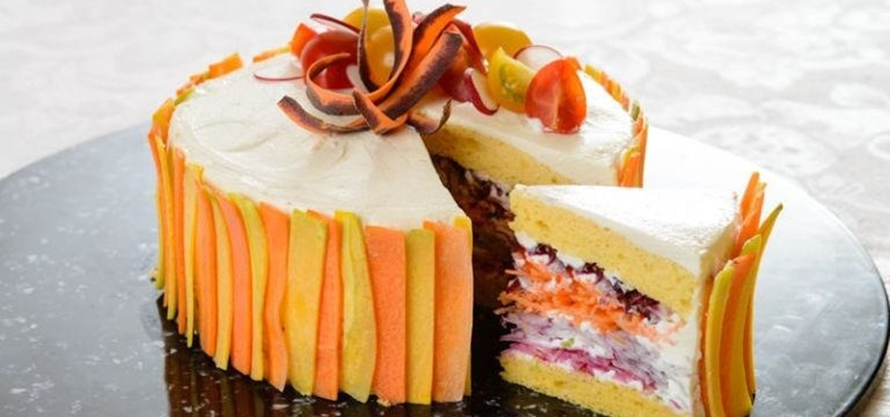 Don't Let the Frosting Deceive You, This 'Salad Cake' Is Actually Made of Veggies