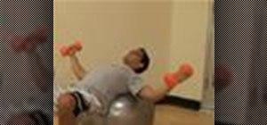 Do the dumbell fly exercise