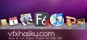 Install and run video editing software Eyeon Fusion on a Mac OS X