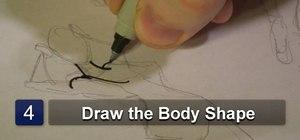Draw women's dresses